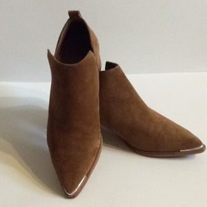 Marc Fisher Rust Suede Booties